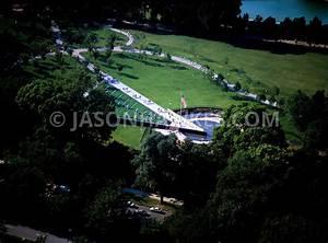 Aerial View. Korean War Memorial, Washington DC, USA ...