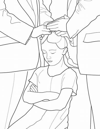 Lds Coloring Pages Primary Confirmed Church Confirmation