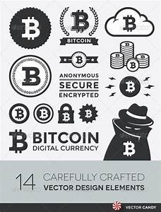 Vector Bitcoin Design Elements and Labels GraphicRiver
