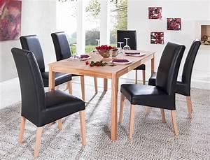 Stühle Esszimmer Schwarz : essgruppe kernbuche tisch emilian 125 165 x80 6 st hle ~ Michelbontemps.com Haus und Dekorationen