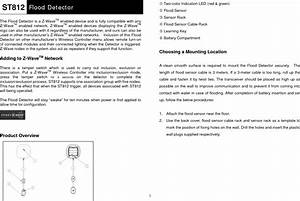 Z Wave Everspring St812 Manual Us Flood Detector User