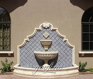 Marble Tiered Design Garden Wall Fountain For Outdoor