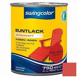 Swing Color Farben : swingcolor buntlack feuerrot 750 ml seidenmatt bauhaus ~ A.2002-acura-tl-radio.info Haus und Dekorationen