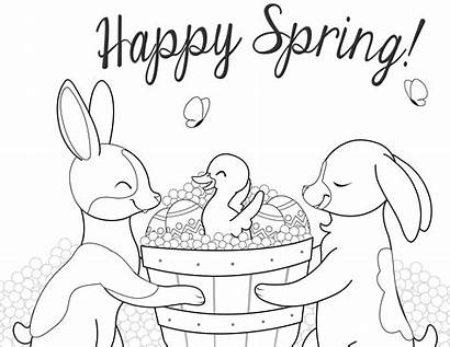 Coloring Pages April Spring Happy Creative Davemelillo