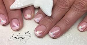Nageldesign French Glitzer : n gel nails nageldesign sch ne n gel shortnails rosa french glitzer beauty salsera nails ~ Frokenaadalensverden.com Haus und Dekorationen