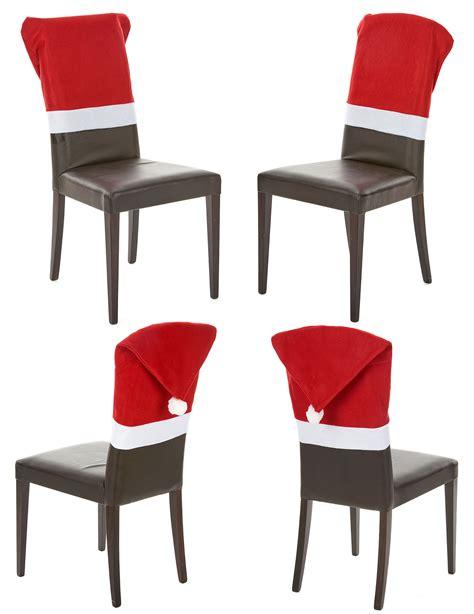 housse de chaise noel lot 4 housses de chaise noël décoration