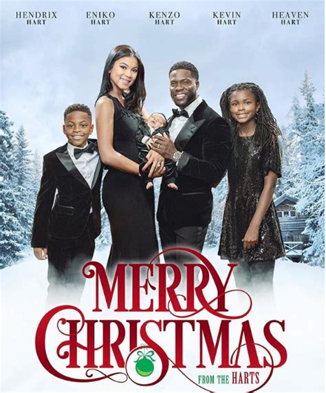 kevin hart s christmas card with baby kenzo looks like a