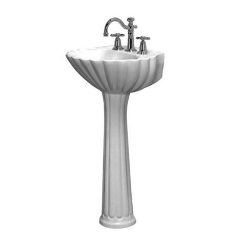 Menards White Pedestal Sink by Barclay Bali Pedestal Sink 8 Quot Widespread At Menards 174