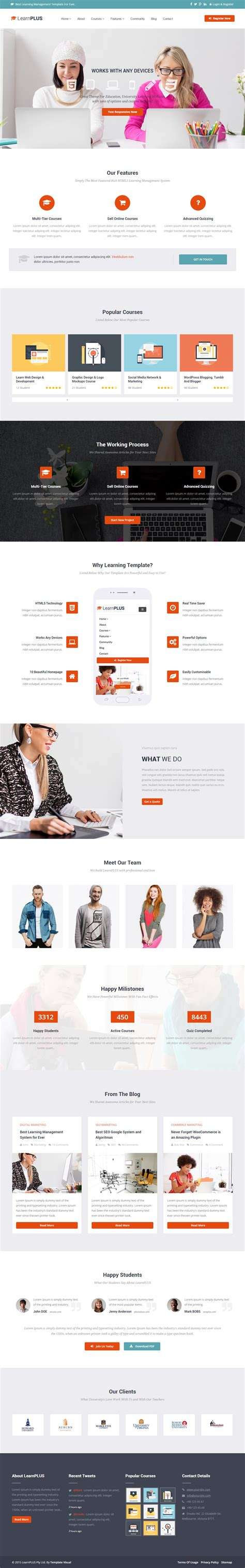 html education templates free 5 best responsive html5 school education templates in 2015 responsivemiracle