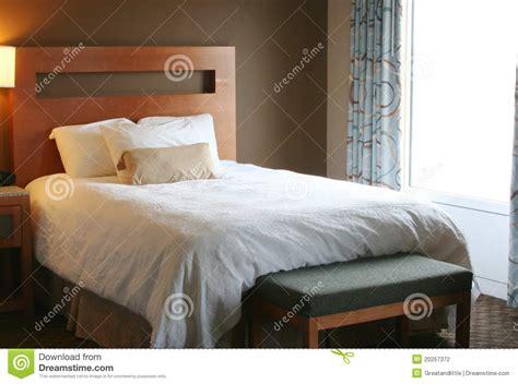 bedroom  white blanket  bed stock photo image