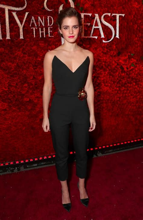 Emma Watson Wearing Oscar Renta Jumpsuit March