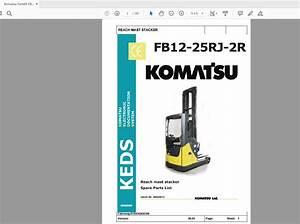 Komatsu Forklift Series Fb12 20rj 25rj