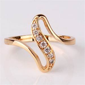 gold plated engagement ring free shipping worldwide With cheap gold wedding rings for women