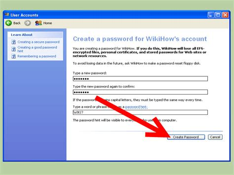 How To Create A Windows Xp Password 7 Steps (with Pictures