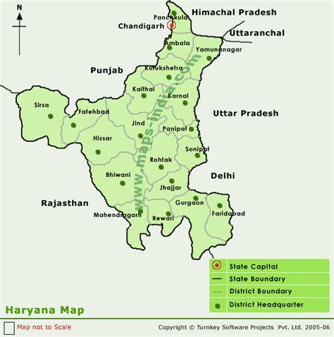 haryana district map district map  haryana