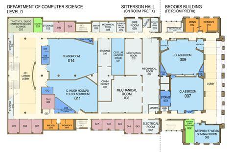 floor plans  sitterson hall brooks building
