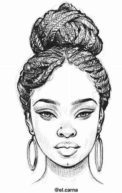 Drawing Braids Sketch Sketches Drawings African Afro