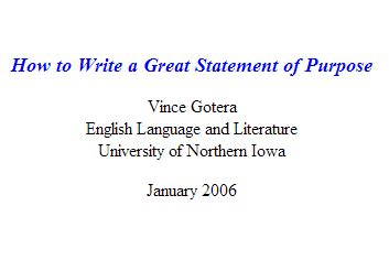 How To Write A Great Resume Exles by How To Write A Great Statement Of Purpose Grad School