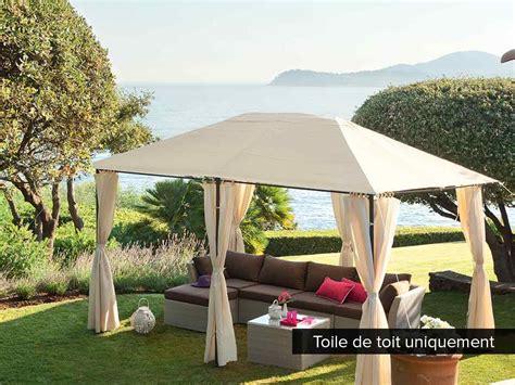toile de tonnelle toile de toit pour la tonnelle santorini hesp 233 ride 3 x 4 m jardideco