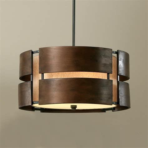 drum shade light fixtures walnut 3 light drum chandelier wood shade pendant l
