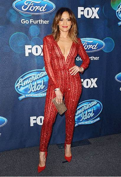 Jennifer Lopez Sheer Plunging Jumpsuit Stuns Carpet