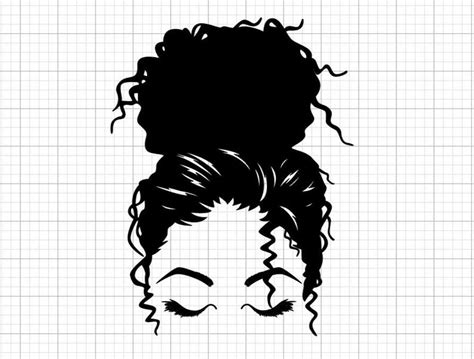 You know all too well that most days you just have to rock the messy bun because there's no time to do your hair! Charm Messy Bun svg png eps hair style svg mom life svg   Etsy