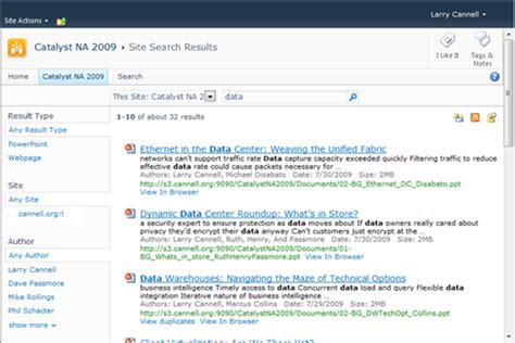 Windows 7 Federated Search And Sharepoint 2010  Larry Cannell