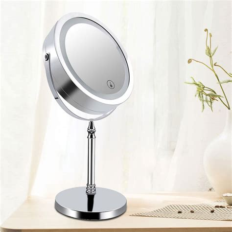 Magnified Bathroom Mirror by 7inch Sided Makeup Mirror 10x Magnified Dimmable