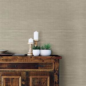 NuWallpaper 30.75 sq. ft. Wheat Grasscloth Peel and Stick ...