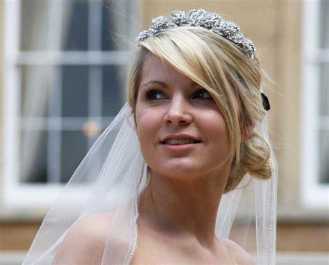 Galena Tiara On A Bridal Veil