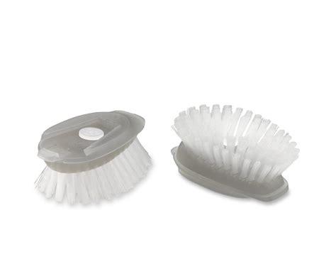 oxo stainless steel soap dispensing dish brush refills set   williams sonoma australia