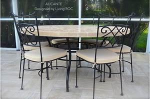 Chaise Fer Forgé : chaise en fer forg plein diamond et coussin lavable living 39 roc ~ Teatrodelosmanantiales.com Idées de Décoration