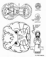 Daniel Bible Lions Coloring Lion Crafts Lessons Sunday Dominical Escuela Preschool Activities Craft даниил Template Bibel Manualidades львы Stories Printable sketch template