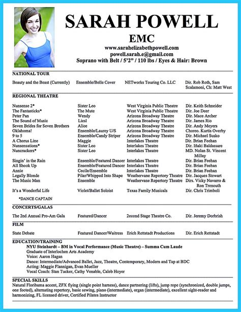 Theater Resume Exle by An Resume Is Relatively Different From Other