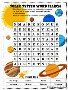 Word search, Solar system and Solar on Pinterest