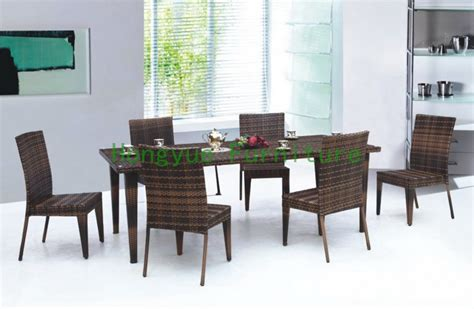indoor rattan dining table and chairs dining furniture set
