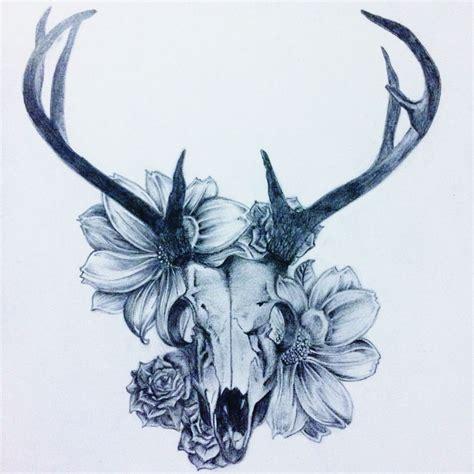 deer skull flowers great antle