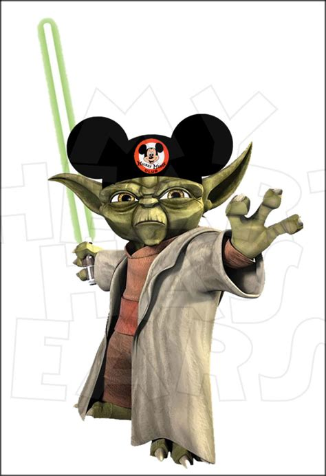 yoda  mickey mouse ears instant  digital clip
