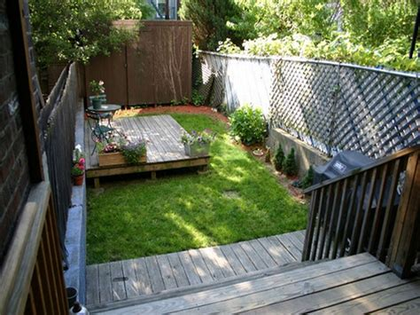 astonishing wooden deck which is applied at patio designed using cool backyard ideas and small