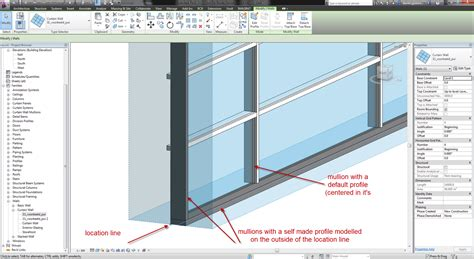 235 l and autodesk aec software revit curtain wall mullions