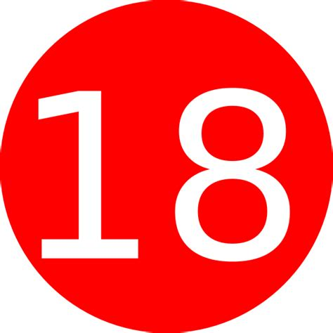 Number 18 Red Background Clip Art at Clker.com - vector ...