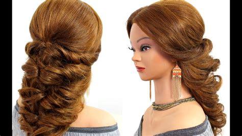 easy wedding prom hairstyle  long hair tutorial youtube