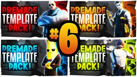fortnite youtube thumbnail template pack  season  acez graphics templates