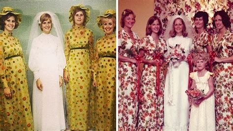 ridiculous vintage bridesmaids dresses  show
