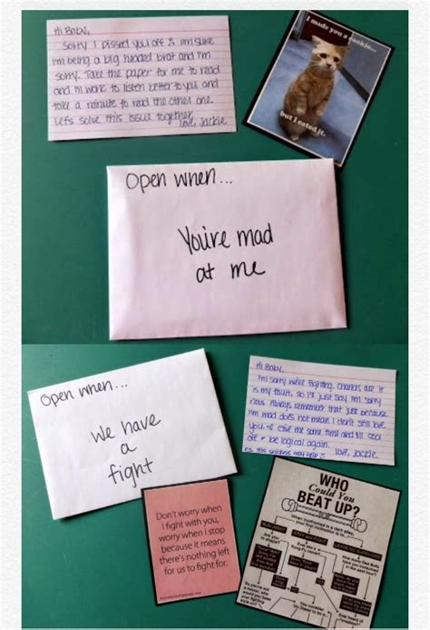 You present these parcels to your partner all at once, so they have them when they need them. Examples of what you could put in an open when letter | Abrir cuando, Cosas bonitas, Cosas