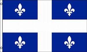 Quebec Flag 3x5 ft Canadian Province Canada Fleur-de-lis