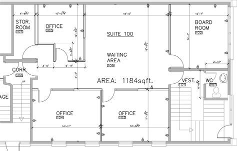 Floor Plan Commercial Building Design Space Plans
