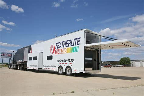 New Featherlite Nascar Support And Media Trailer