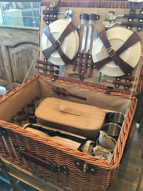 large wicker picnic basket  servings mulberry moon
