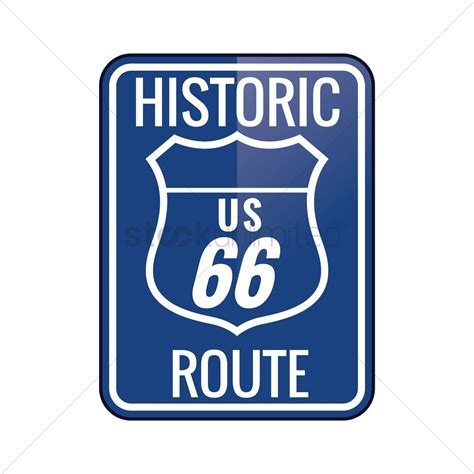 File Route66 Sign Jpg Historic Route 66 Sign Vector Image 1558991 Stockunlimited